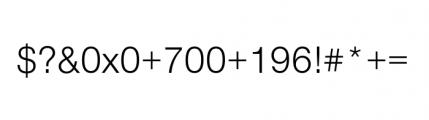 Nimbus Sans Novus Complete Regular Font OTHER CHARS