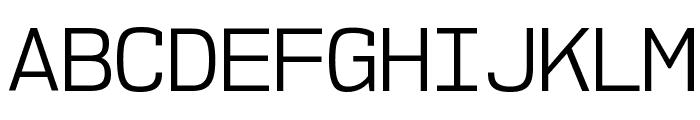 NK57MonospaceBk-Regular Font UPPERCASE