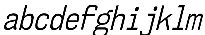 NK57MonospaceCdBk-Italic Font LOWERCASE