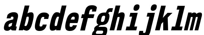 NK57MonospaceCdEb-Italic Font LOWERCASE