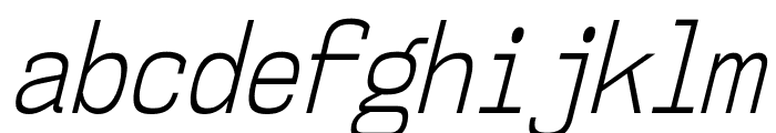 NK57MonospaceCdLt-Italic Font LOWERCASE