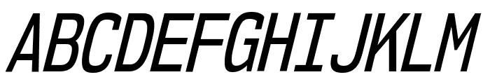 NK57MonospaceCdRg-Italic Font UPPERCASE