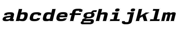 NK57MonospaceExEb-Italic Font LOWERCASE
