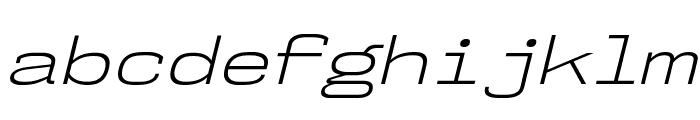 NK57MonospaceExLt-Italic Font LOWERCASE