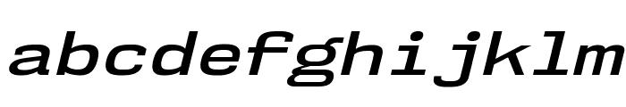 NK57MonospaceExSb-Italic Font LOWERCASE