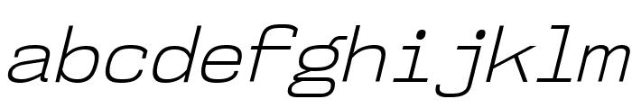 NK57MonospaceLt-Italic Font LOWERCASE