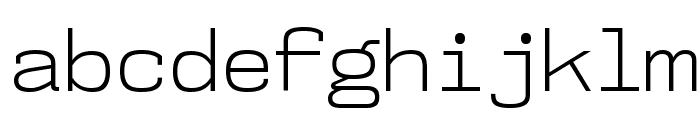 NK57MonospaceLt-Regular Font LOWERCASE