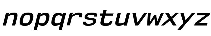 NK57MonospaceSb-Italic Font LOWERCASE