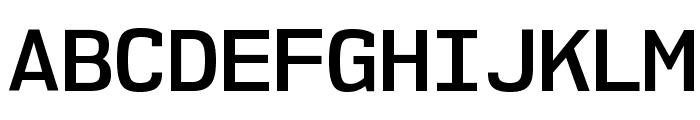 NK57MonospaceSb-Regular Font UPPERCASE