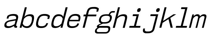 NK57MonospaceScBk-Italic Font LOWERCASE