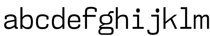 NK57MonospaceScBk-Regular Font LOWERCASE