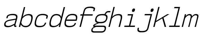 NK57MonospaceScLt-Italic Font LOWERCASE