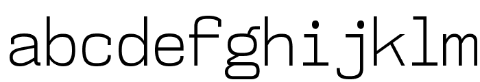 NK57MonospaceScLt-Regular Font LOWERCASE
