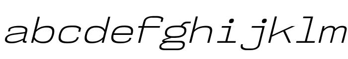 NK57MonospaceSeLt-Italic Font LOWERCASE