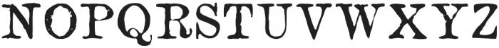 NN1890 Regular otf (400) Font UPPERCASE