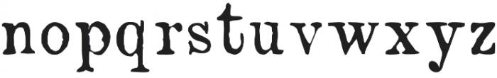 NN1890 Regular otf (400) Font LOWERCASE