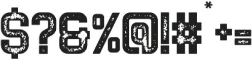 NORTHDEN ROUGH Regular otf (400) Font OTHER CHARS