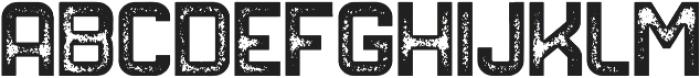 NORTHDEN ROUGH Regular otf (400) Font UPPERCASE