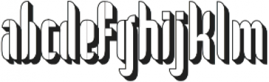No. 5 otf (400) Font LOWERCASE
