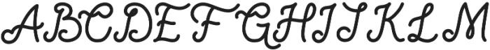 Nocturne Regular otf (400) Font UPPERCASE