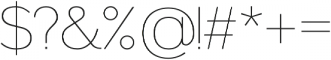 Noirden Thin otf (100) Font OTHER CHARS