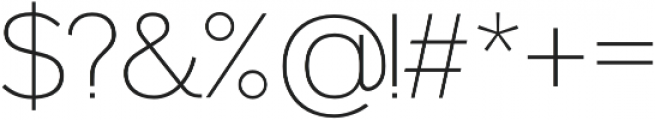 Noirden otf (200) Font OTHER CHARS