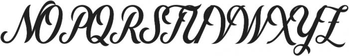 Nomah Script Bold otf (700) Font UPPERCASE