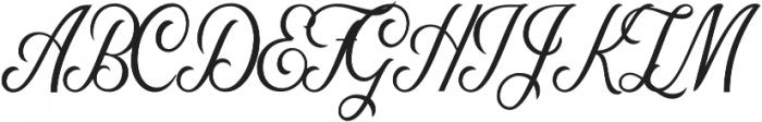 Nomah Script Light otf (300) Font UPPERCASE