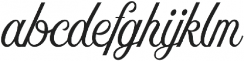 Nomah Script Light otf (300) Font LOWERCASE