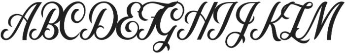 Nomah Script Semibold otf (600) Font UPPERCASE
