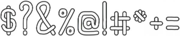 Noodles Outline ttf (400) Font OTHER CHARS