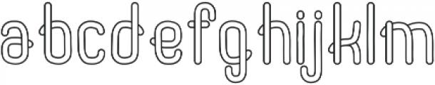 Noodles Outline ttf (400) Font LOWERCASE