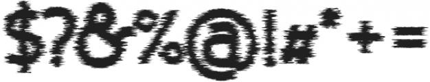 Nora Art Glitch otf (400) Font OTHER CHARS
