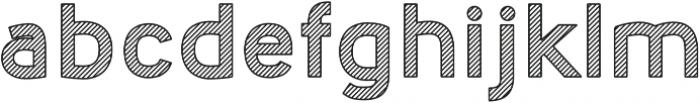 Nora Art Line Outline otf (400) Font LOWERCASE