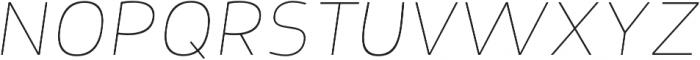 Nora Grotesque Thin Oblique otf (100) Font UPPERCASE