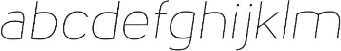 Nora Grotesque Thin Oblique otf (100) Font LOWERCASE