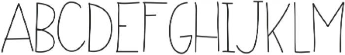 NoraLight ttf (300) Font UPPERCASE