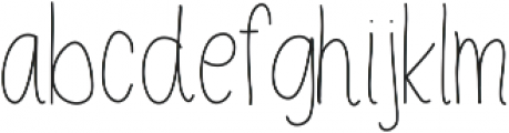 NoraLight ttf (300) Font LOWERCASE