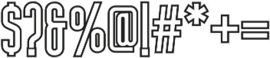 Nordin Outline Bold otf (700) Font OTHER CHARS