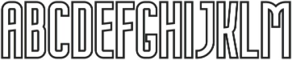 Nordin Outline Bold otf (700) Font UPPERCASE