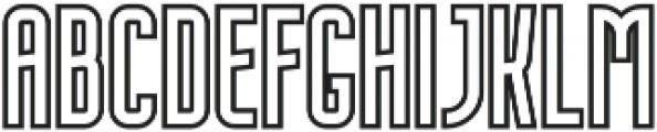 Nordin Outline Bold otf (700) Font LOWERCASE