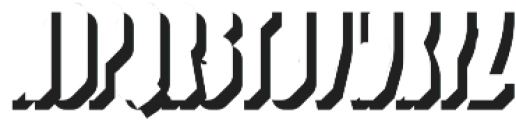 Nordin Shadow Right otf (400) Font LOWERCASE