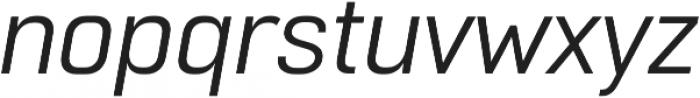 Normative Lt Italic otf (400) Font LOWERCASE
