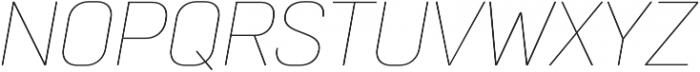Normative Pro Thin Italic otf (100) Font UPPERCASE
