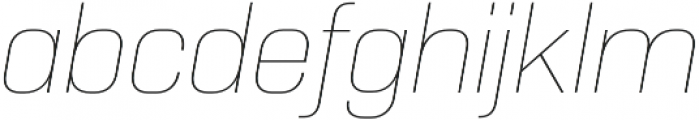 Normative Pro Thin Italic otf (100) Font LOWERCASE