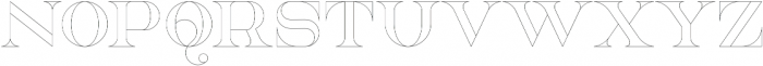 NorthEast Outline otf (400) Font UPPERCASE