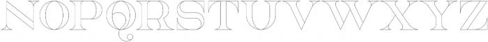 NorthEast Outline otf (400) Font LOWERCASE