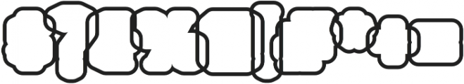 Northam Thorne Outline Regular otf (400) Font OTHER CHARS