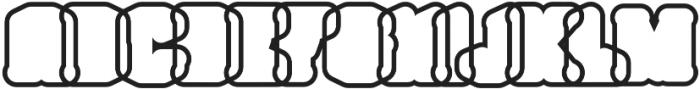 Northam Thorne Outline Regular otf (400) Font UPPERCASE
