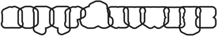 Northam Thorne Outline Regular otf (400) Font LOWERCASE